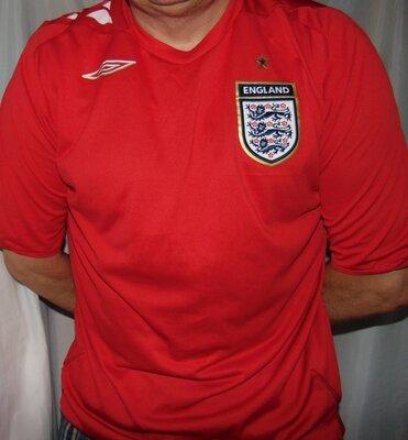 Футбольная оригинал футболка Umbro зб Англии .хл-2хл .