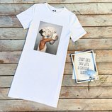 Жіноча довга футболка   Женская футболка-платье