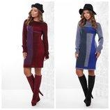 Яркое платье вязаное 44-48 -6 расцветок