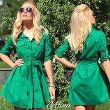 Платье рубашка из лёгкого коттона. Разные цвета.