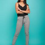 Женские летние котттоновые легкие брюки штаны скинни в полоску и микс цветов Лань скл.15