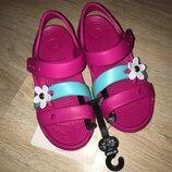 Детские босоножки крокс оригиналCrocs Kids Keeley Charm Sandal C10 C11