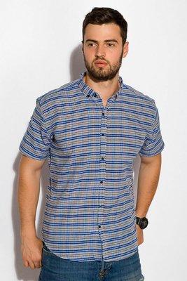 Рубашка мужская с коротким рукавом, хлопок. Размеры XS-XXXL.