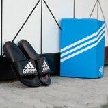 Тапки шлепанцы мужские Adidas Equipment Black