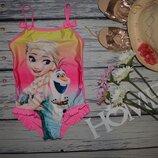 5 - 6 лет 116 см Обалденный купальник девочке моднице Холодное сердце Frozen Эльза