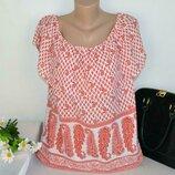 Шифоновая блуза с открытыми спущенными плечами топ atmosphere большой размер этикетка