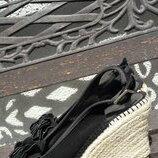 Босоніжки на танкетці, американського бренду Bandolino, натуральна замша/плетений джгут