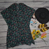 Безразмерная фирменная пляжная туника парео халат цветы Vero Moda