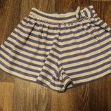 трикотажные шорты Tu на девочку 3-4 года в идеальном состоянии