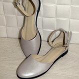 Босоножки балетки натур кожа серебро мат,глянец 36-43р все цвета индивидуальный пошив