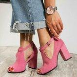 Код 5652 Стильные туфли Верх Натуральная итальянская замша Кожаная внутренняя часть