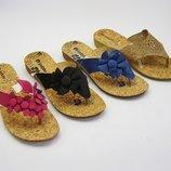 Женские вьетнамки с пробковой стелькой тм inblu инблу расцветки