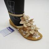 Красивые женские босоножки с цветочками Тм Inblu Инблу