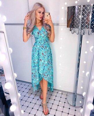 Платье женское летнее Цветочек размеры 42-54.