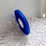 Репсовая лента 0.6 см,цве синий,23 м,1 бобина
