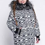 Зимняя куртка X-Woyz 8291 с оригинальным принтом размеры 128- 158