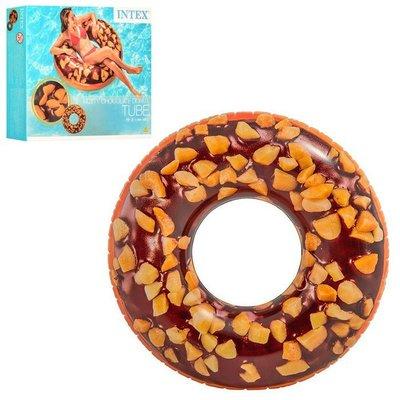Круг надувной Intex 56262 Шоколадный Пончик , 114см