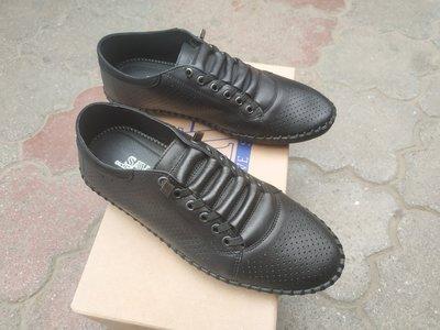 Кожаные мокасины со шнуровкой, летние туфли с перфорацией, кеды, кроссовки