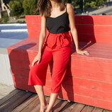 Брюки-Кюлоты из легкой летней ткани Челси krr-1618 красный