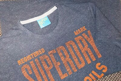 941. Винтажная футболка мужская Superdry. Размер L
