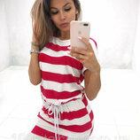 Женское летнее платье с карманами из мягкой ткани вискоза в полоску Darling арт.816 скл.10