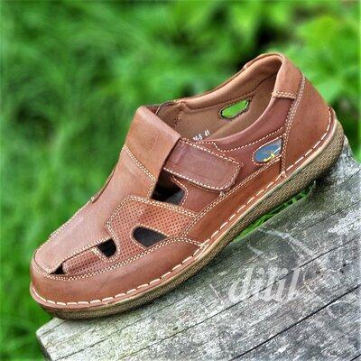 Туфли мужские кожаные летние коричневые