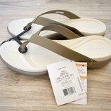 Мега удобные шлепки Capri Flip от Crocs W11 новые