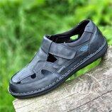 Босоножки сандалии кожаные мужские летние черные