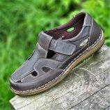 Босоножки сандалии кожаные мужские летние коричневые