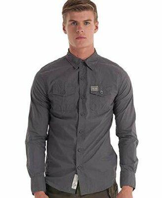 Брендовая мужская рубашка Superdry , Original. Размер L идет на М .