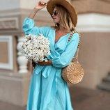 Летнее легкое платье на запах 42 - 46