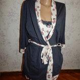 комплект трикотажный халат с ночнушкой р10-12