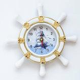 Часы настенные Штурвал белые