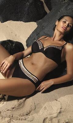Violetta marko m-476 черный раздельный купальник