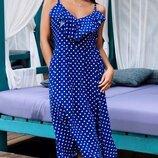 Женское платье сарафан ткань штапель в горошек скл.1 арт.55959