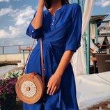 Женское платье рубашка ткань штапель микс цветов скл.1 арт.55956