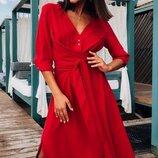 Женское платье рубашка ткань штапель микс цветов скл.1 арт.55954