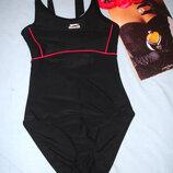 купальник спортивный черный размер 40-42 / 8 в бассейн сдельный сплошной слитный купальник спортивн