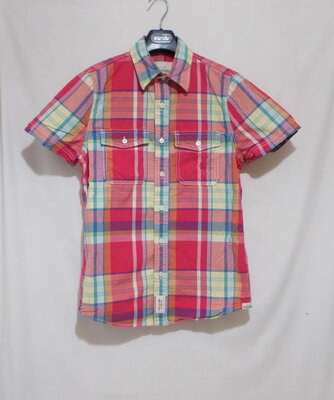 Рубашка в крупную клетку Abercrombie & Fitch 44-48р