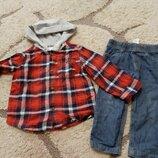 Набір,набор джинси сорочка,рубашка18 міс