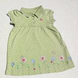 Carters. Трикотажное платье на 6-9 месяцев. Хлопок.