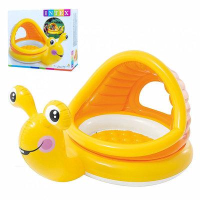 Бассейн 57124 Улитка, 145-102-44СМ,С Навесом, Intex Интекс Lazy Snail Shade Baby Pool