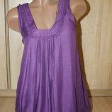Красивая штапельная летняя блуза-туника ZARA