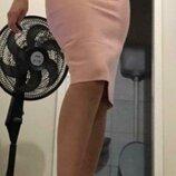 Бандажная юбка карандаш абрикосового-оранжевого цвета