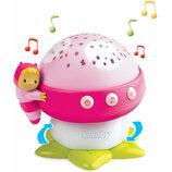 Smoby Музыкальный проектор Грибочек розовый 110109 Cotoons nitch musical mushroom