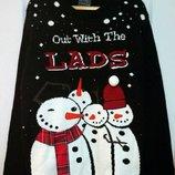 Новогодний свитер со снеговиками