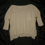 размер S-М, лёгкий кремовый свитер Zara