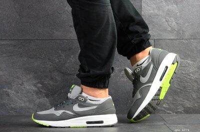 Nike Air Max кроссовки мужские демисезонные серые с белым 8078