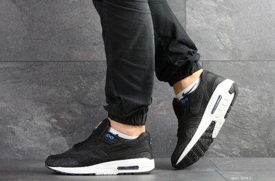 Nike Air Max Zero QS кроссовки мужские демисезонные черные с белым 8081