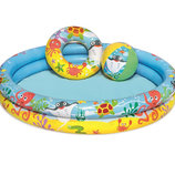 Бассейн надувной детский BW Bestway 51124 с набором